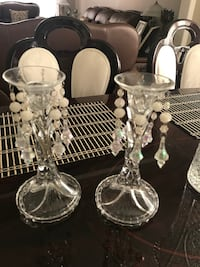 two clear glass candle holders Vaughan, L4L 7N8
