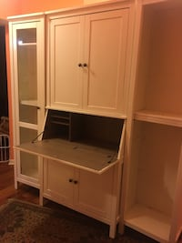 White wooden cabinet with shelf Gaithersburg