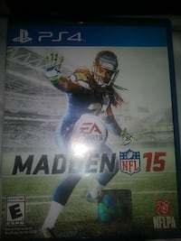 Sony PS4 Madden NFL 15 game case