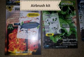 Skulls and true fire stencils and paint