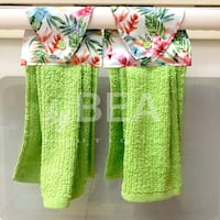 Two (2) Tropical Kitchen Towels - bright green Tampa, 33612