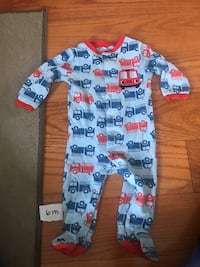 baby's blue and red footie pajama Mississauga, L5V 2W7