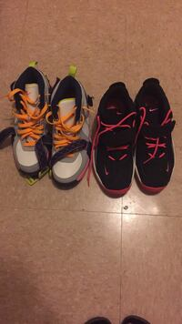 two pairs of black and white basketball shos Annapolis, 21403