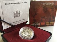 2000 Royal Canada Mint Royal Military Collee  5cents 92.5 Silver 5:35g Calgary, T2P 1B3