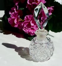 "Vintage Beautiful 4"" Cut Glass Perfume Atomizer Bethesda, MD, USA"