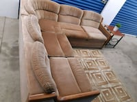 Brown Suede Sectional Sofa Mississauga, L5A 1Y5