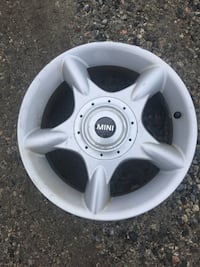 gray Mini Cooper 5-spoke vehicle wheel Aldergrove, V4W 3E1