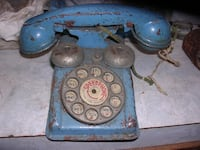 vintage metal toy phone WINCHESTER