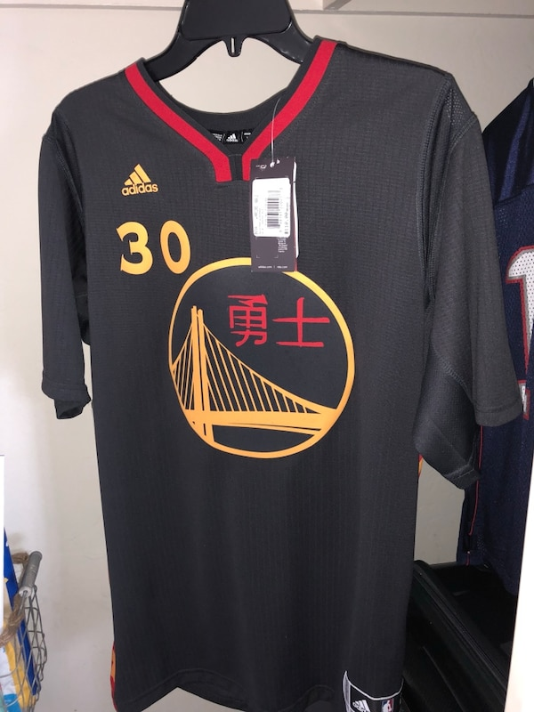 uk availability ac7ad 0a211 Stephen Curry Chinese New Year Jersey L