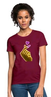 Snap Of The Heart - Womens Graphic Tee Shirt By Designs By You Wichita, 67213