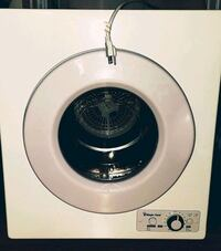 Magic Chef MCPMCSCDRY1S  2.6 cu. ft Compact 110 Laundry Dryer, White
