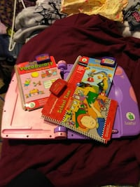 Leap frog,  leap pad with 3 books and. Discs New Concord, 43762