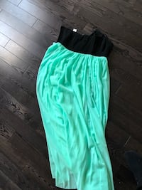 Black and sea foam green maxi dress  Ajax, L1Z 0P4
