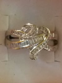 STAMPED 925 Silver, Natural White Sapphire Gemstones, Eternal, Heart Ring. (Size 7 &8) Firm Price (Must Pick Up) $8.00 Pueblo