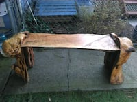 Wood bench  (make offer)  Nisqually, 98513