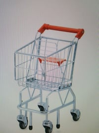 Mellissa &Doug Grocery shopping Cart Toy, Silver