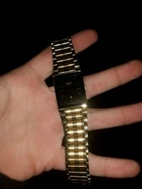 gold-colored analog watch with lonk band Kelowna, V1W 2L7