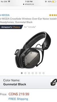 V-mode noise cancelling headphones  Edmonton, T5B 1P5