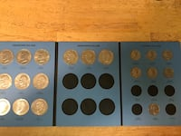 """Eisenhower """"silver dollar """" and Susan b Anthony dollar coin collection"""
