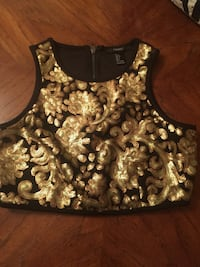 black and gold floral zip-back cholli blouse Fort Worth, 76134