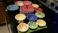 assorted several color bowl