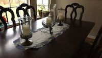 Table candles and vase ( princess house decor  Whiting, 08759