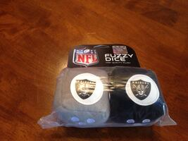 two NFL Fuzzy dices Raiders