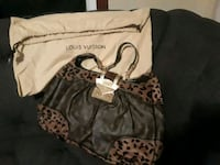 Louis Vuitton monogram leopard Polly bag Galloway, 43119