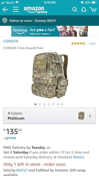 Condor 3 day assault pack Downey, 90241