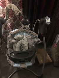 baby's gray and white cradle and swing Newport News, 23608