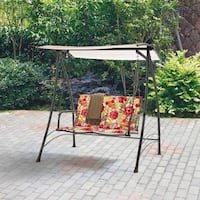 Red floral 2 person swing - patio furniture  Ashburn, 20147