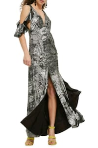 women's gray and black floral dress Toronto, M2N