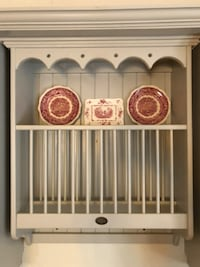 Soft gray plate rack  Barrie
