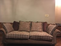 brown and white fabric 3-seat sofa Vaughan, L4H 3P6