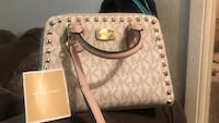 Brown and gray michael kors leather tote bag Fairfield, 94533