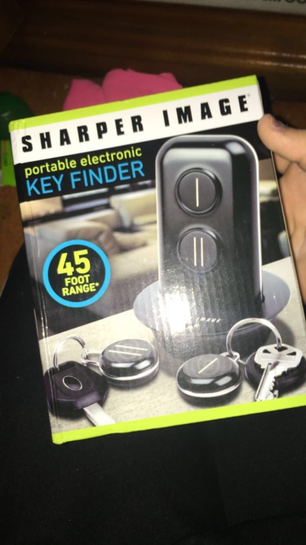 Used Black Sharper Image Portable Electronic Key Finder Box For Sale
