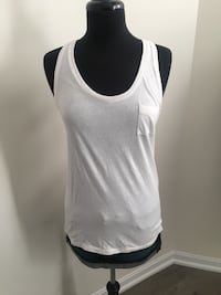Brand new white PINK by VS tank size M