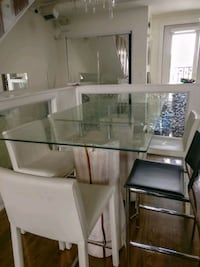 Unique tall dining room table with chairs  Calgary, T2G 0T8