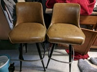 two brown padded black metal chairs Valparaiso, 46383