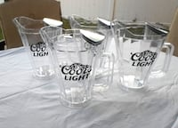 4 Coors LIght Beer Ice Chamber Pitchers Port Saint Lucie