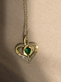 18k yellow gold plated sterling silver necklace with heart pendant Greenville, 29605