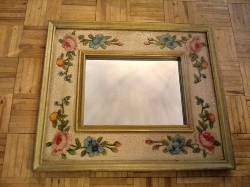 FLORAL HAND PAINTED MIRROR 1