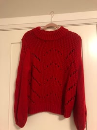 Winter Wardrobe Haul! Red Knitted Sweater Vancouver, V5W 3J6