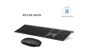 Deluxe Wireless Keyboard and Mouse, Rechargeable,  NEW 1/2 PRICE
