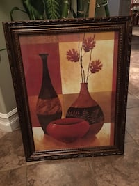 red and brown vase painting 3154 km