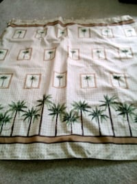 white and green floral textile Festus
