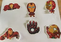 Iron man stickers for $5 for these 6 stickers Bellflower, 90706