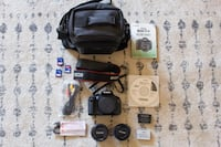 Canon Rebel T3i + 2 Lens & 3 SD cards and 2 batteries + more Long Beach