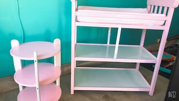 Baby night table and changing table