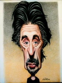 Hand drawn caricatures Chicago